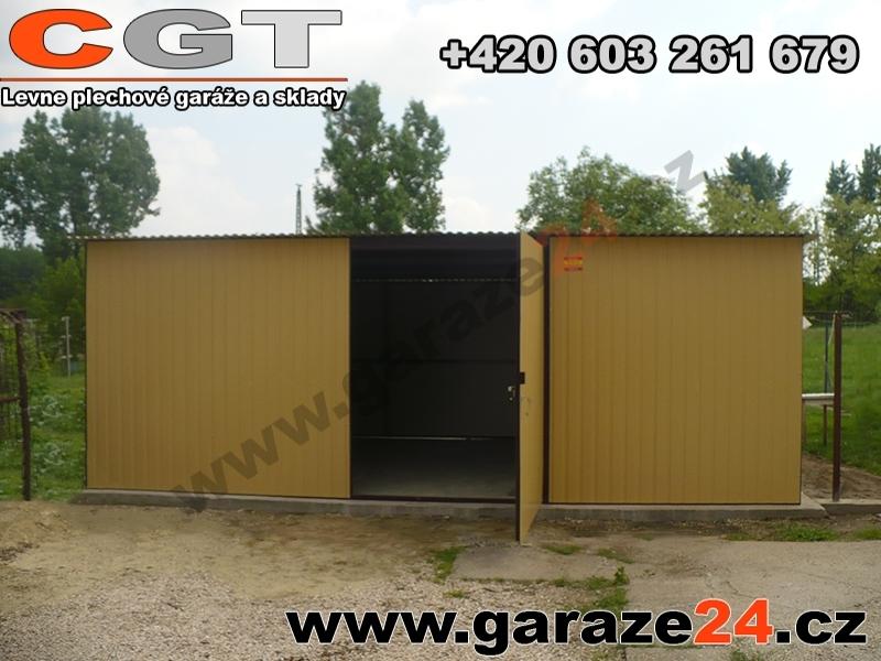 Plechova garaz 6x4